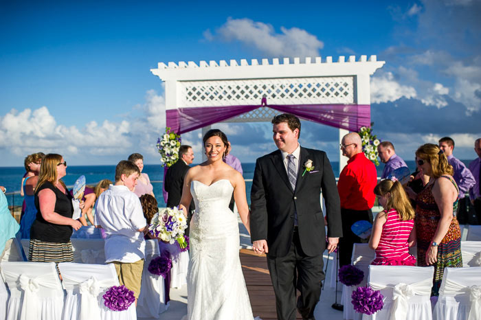 azul beach resort wedding photos in cancun mexico