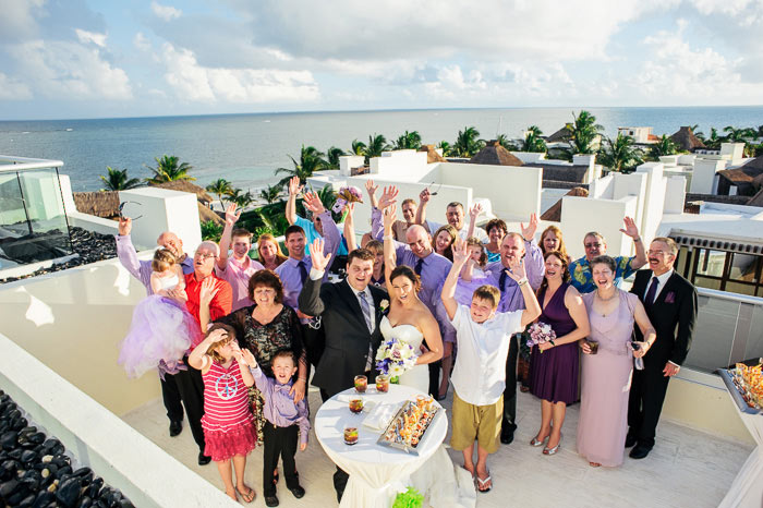 azul beach resort wedding in cancun mexico
