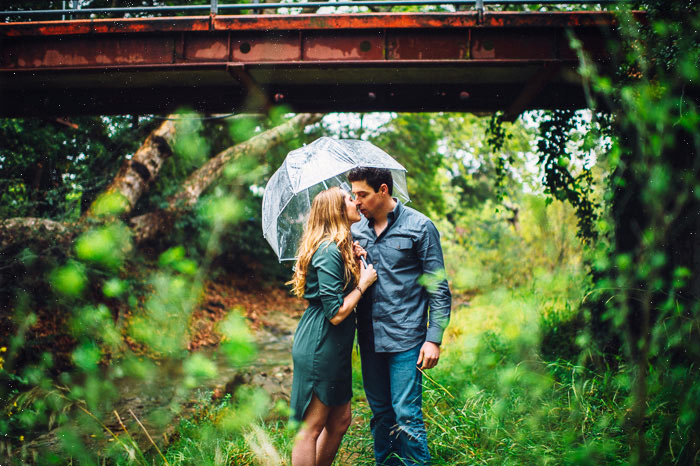 san luis obispo photographer rain engagement photo