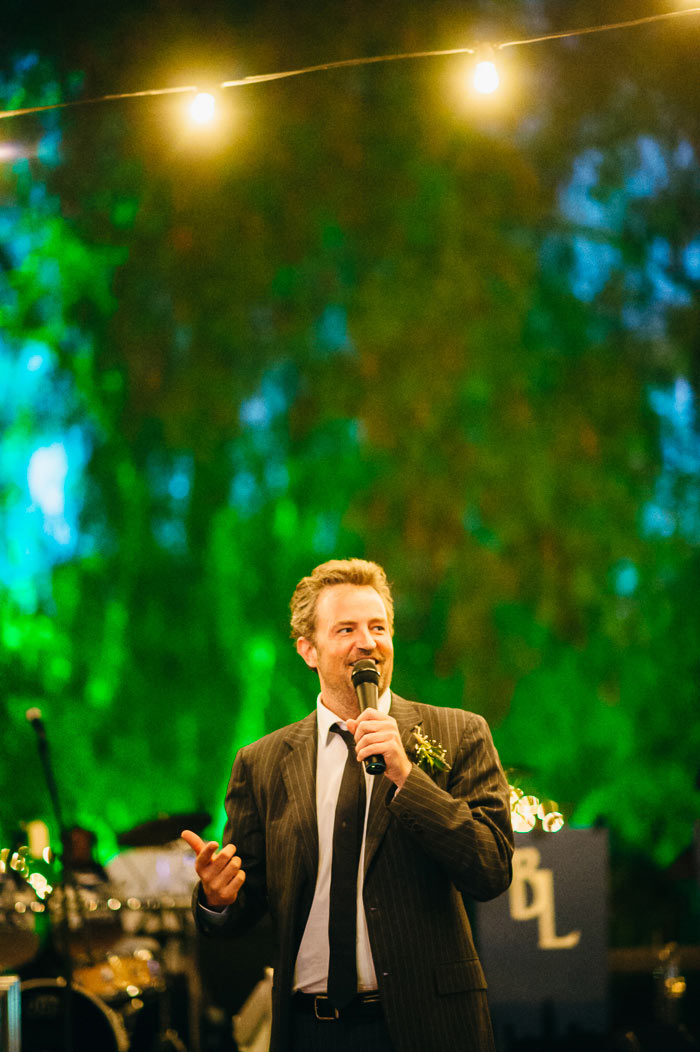matthew perry giving a toast at sisters wedding photo