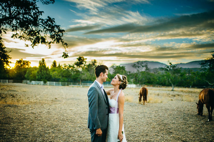 gorgeous sunset couple Ojai wedding David Bowick and maria perry ranch