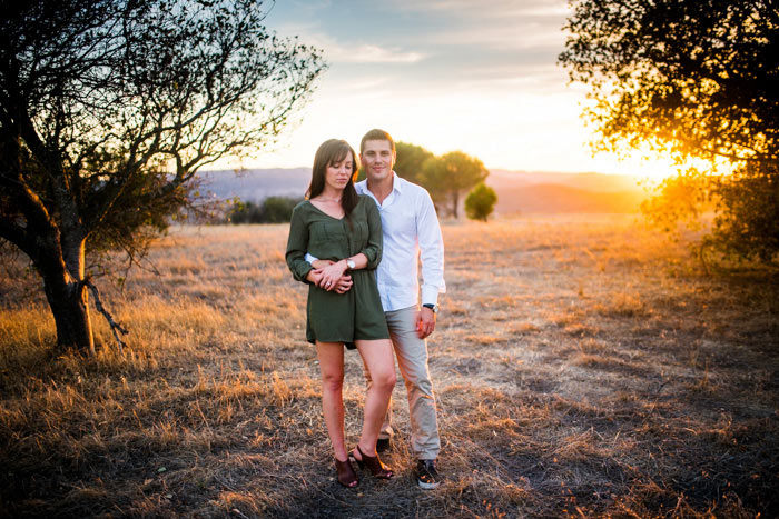 engagement pictures for courtney and travis before their flying caballos wedding saturday
