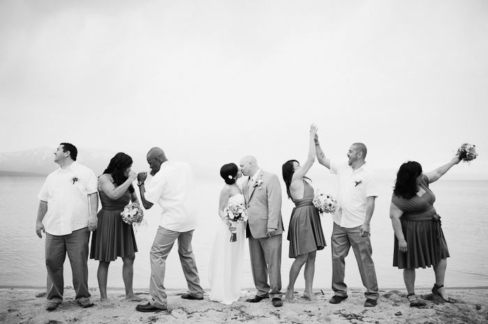 lakeside beach grill wedding photos