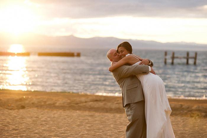 lakeside beach grill tahoe wedding photographer