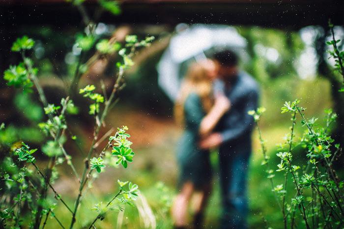 san luis obispo photographer rain engagement photo