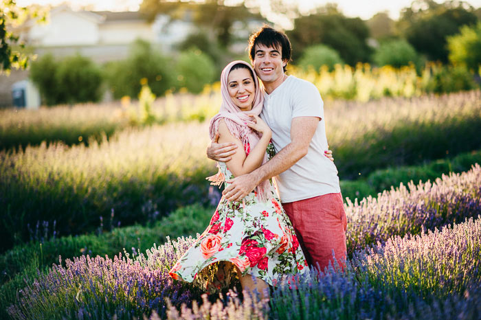 central coast lavender farm engagement photographs