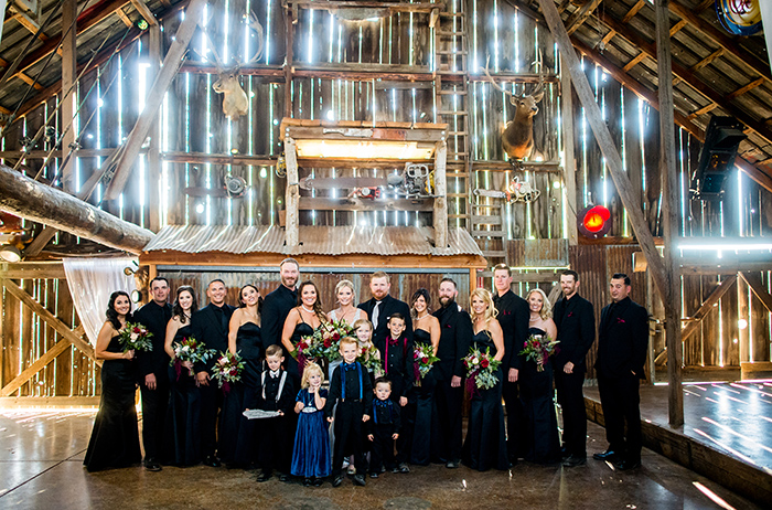 bridal party barn picture